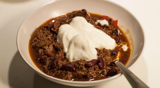 Gourmet-chili con carne på oksegrydesteg